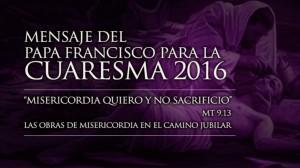 cuaresma 2016 mensaje papa
