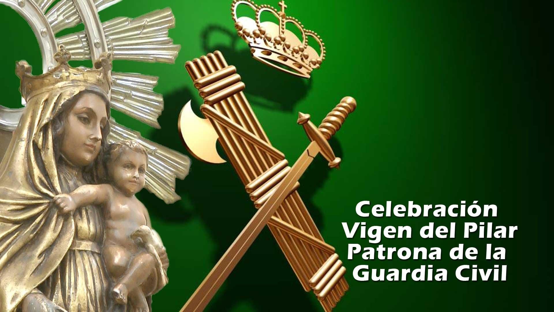 Resultado de imagen de virgen del pilar y la guardia civil